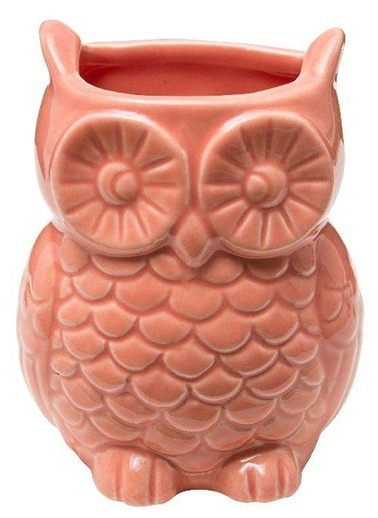 Warm Design Baykuş Dekoratif Vazo Kırmızı